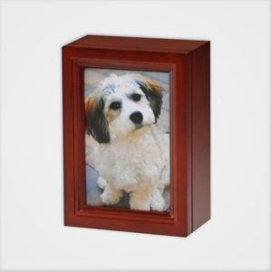 4x6 Wooden Photo Frame Pet Urn Cherry Peaceful Pets Aquamation