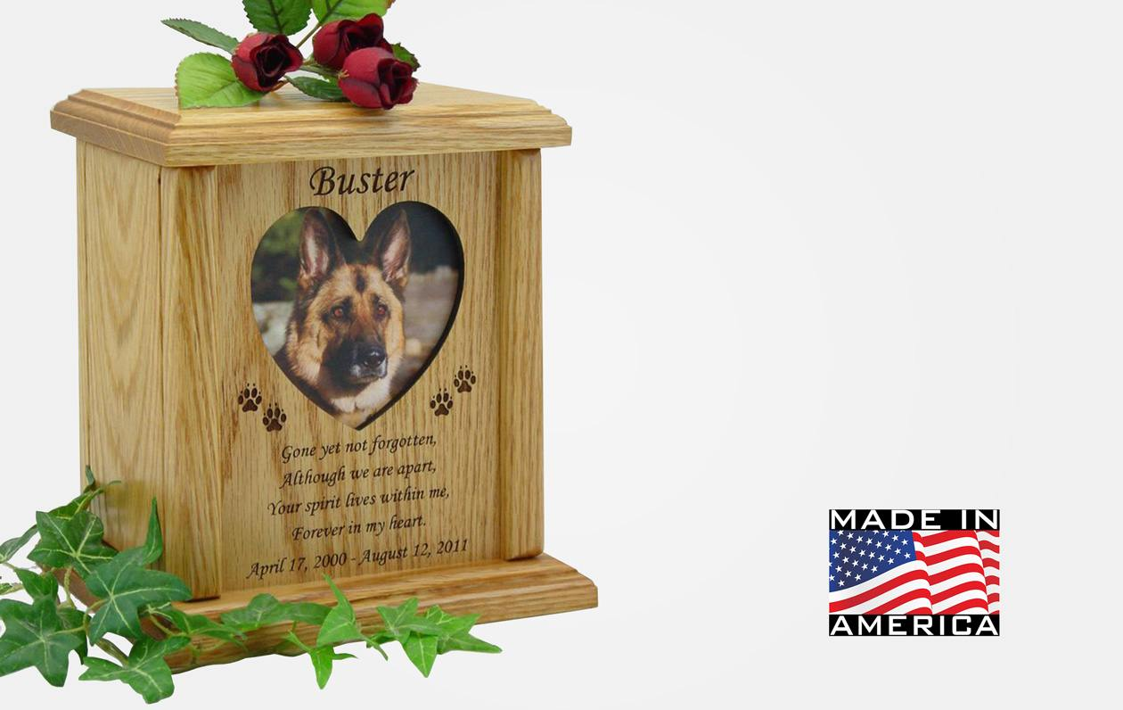 Heart Frame Poem Pet Urn Peaceful Pets Aquamation