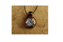 Glass Pendant with Loop - Amber Image