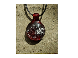 Glass Pendant with Loop - Pomegranate Image